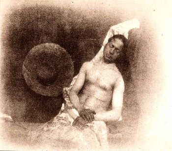 Self-portait as a drowned man